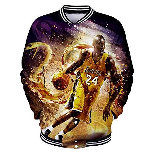 Kobe Bryant Pullover Capa de la Chaqueta del Hombre y de la...