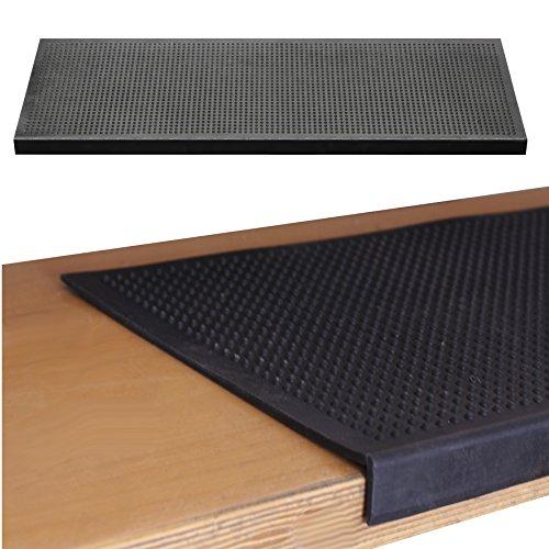 Gummi Stufenmatte 25x75cm Gummimatte Rutschschutz Treppe Stufen Außen mit Winkelkante Selbstklebend Gummistufenmatte