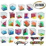 28 Mini Giochi di Puzzle, 24 Set di Puzzle, 4 Mini Skateboard per Dita, Diversi Livelli di...