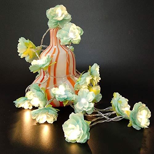 Navidad Creativo de la flor del partido conducido cadena de baterías luz decorativa de bricolaje operado 1/2/3/4 opción metros, acontecimiento de la boda / decoración de la habitación en casa festival