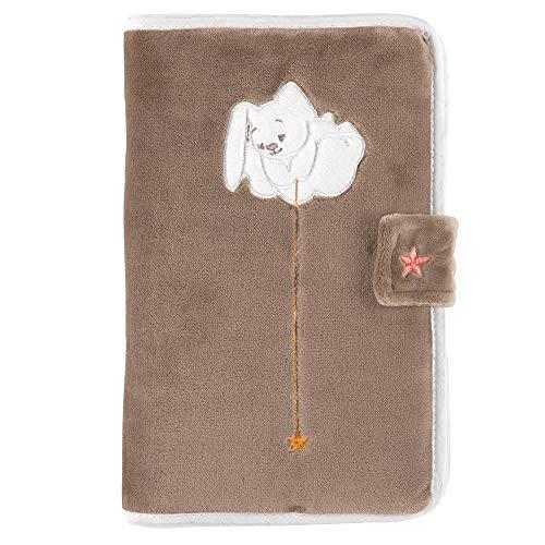 Nattou Protège Carnet de Santé Lapin Mia, Avec Fermeture à Scratch, Mia et Basile, 17 x 25 x 2 cm, Brun/Blanc