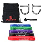 WODFitters Home Gym with 5 Resistance Bands - Full Body Workout at Home and While Traveling