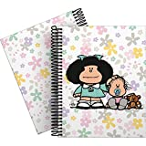 Mafalda 16512611 Colección Mafalda Cuaderno, Cuadriculado 5 Mm, Modelo Flores, A5