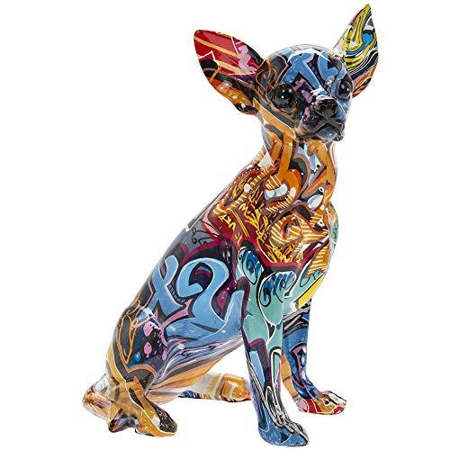 Lesser & Pavey Leonardo Graffiti Art Sitting Chihuahua Pet Ornament Dog