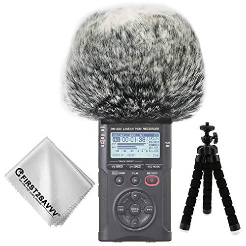 First2savv Corto Microfono Parabrezza Copertura Antivento Shell Cuffia Antivento in Pelliccia Sintetica per Microfoni a Fucile per Tascam DR-40X DR-40