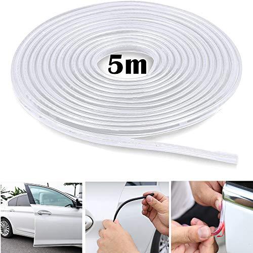 5M Car Edge Trim Rubber Seal Pad de protection en forme de U, adapté aux voitures SUV MPV et à la plupart des modèles (Transparent)