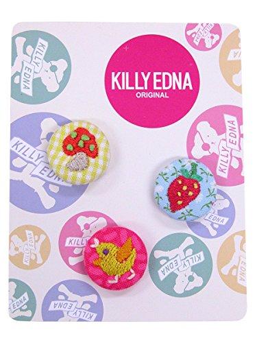 KILLYEDNA(キリィエドナ) 刺繍くるみボタン キリーズマーブル 3個セット20mm アソートA
