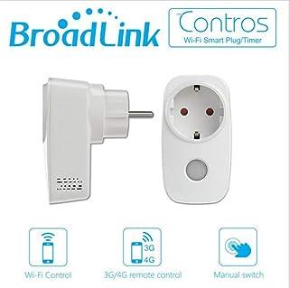 Broadlink SP3-EU Smart stopcontact, wifi, draadloos, smart plugtiming-functie, afstandsbediening, compatibel met Alexa/Goo...