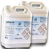 LordsWorld Pool Care - 10Lt (2 X 5Lt) Antialga Liquido No Schiuma Algicide - Stop Alghe - Evita La Formazione delle Alghe in Acqua Piscina - Trattamento E Mantenimento dell'Acqua - ANTIALGA-10LT