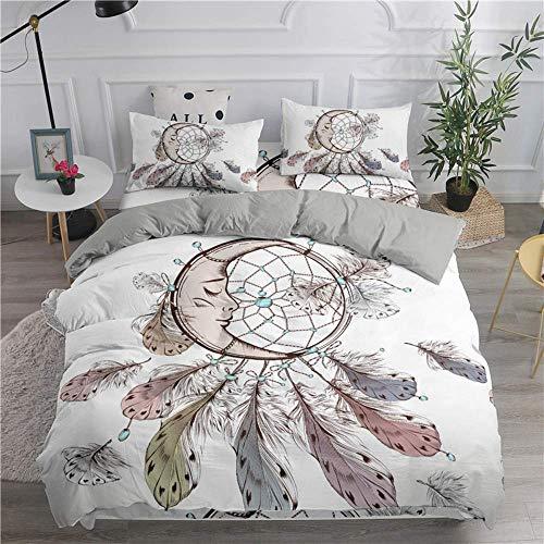 Bohemian Series 3D Dream Catcher Moon Bedding Set Home Decor Microfiber Bedspread Pillowcase Queen King Size Bed Sets