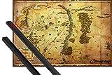 1art1 Der Hobbit Poster (91x61 cm) Landkarte Von Mittelerde