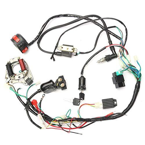 Selotrot CDI Arnés de Cables Kit Cableado Set para 50cc-125cc China Atv Eléctrico Quad