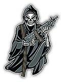Grime Reaper with Gun Art Decal Bumper Vinyl Sticker