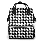 Shichangwei Diaper Bag Backpack Travel Bag Large Multifunction Waterproof Houndstooth Stylish and Durable Nappy Bag for Baby Care School Backpack