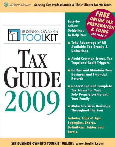 Toolkit Tax Guide 2009 (Business Owner's Toolkit series)