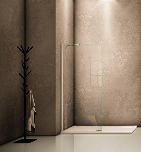 60x200cm Walk in Duschwand Duschtrennwand 8mm Easy-clean Nano Glas Duschabtrennung