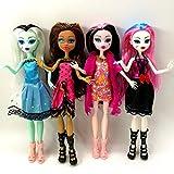 None/Brand 4pcs Monster High Doll Monster Vampire Movable Joints, The Best Gift Fashion Doll for Children