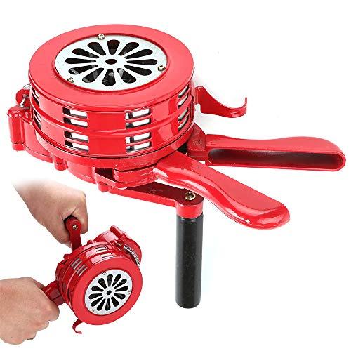 YORKING Handsirene Aluminiumgehäuse Sirene Handkurbel Einklappbar Alarmsirene fürs Haus Überwachungstechnik