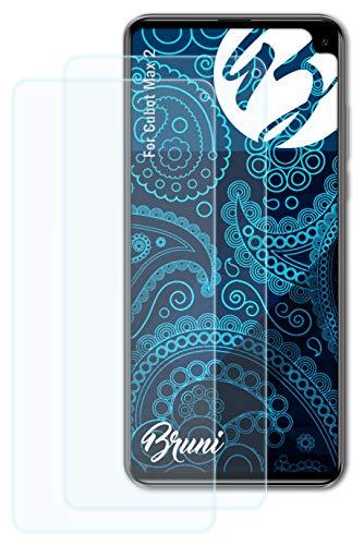 Bruni Schutzfolie kompatibel mit Cubot Max 2 Folie, glasklare Bildschirmschutzfolie (2X)