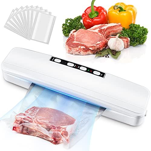 Macchina Sottovuoto per Alimenti, Sigillatore Sottovuoto Macchina Automatica Portatile Vacuum Sealer Macchina per Sottovuoto per Alimenti Freschi e Secchi Macchina Sottovuoto Sigillo di Snack
