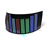 LED Paper-Thin Flex Matrix Panel for Wearables and DIY Rechargeable Battery and Charge Cord Ultra-Thin Flexible LED Screen (Large RGB)