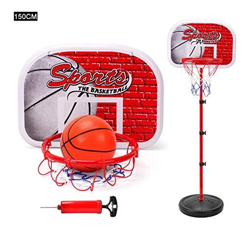 NMBC Basketballständer Tragbarer Basketballkorb Liftable Basketball Hoop Backboard Stand Set Anhebbar mit Kugel und Pumpe-150cm A