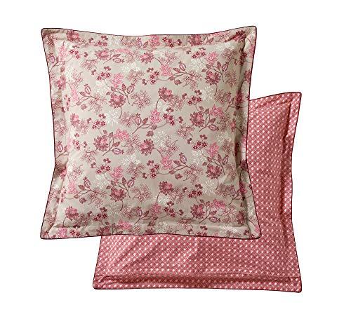 Blanc des Vosges Taie d'oreiller Decorum Bois de rose 65 x 65 cm - Percale 100% coton 80fils/cm²