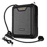 Portable Voice Amplifier 25W Rechargeable Speaker with Microphone Wired Headset Waterproof IPX6 Bluetooth 5.0 Personal Voice Enhancer for Teachers, Training, Meeting, Presentation, Outdoor, Beach, etc