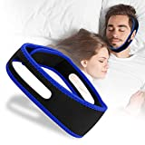MILYSHARE Anti Snoring Chin Strap-Snore Stopper & Anti Snore Chin Strap for CPAP Users - Breathable, Effective Stop Snoring Chin Strap for Men Women Adjustable Snore Reduction Chin Straps (Black+Blue)