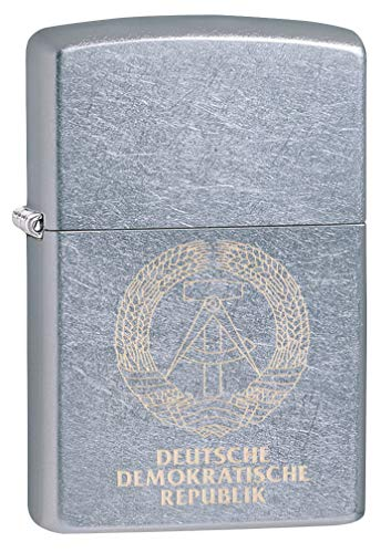 Zippo Classic Lighter-DDR Logo, Messing, Individual Design, Original Pocketsize