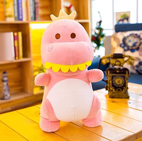 Juguetes interactivos de Felpa de Dibujos Animados Suave Suave Almohada de Dinosaurio de Diente Grande muñeca de Dinosaurio Regalo Creativo 40 cm / 15,7 Pulgadas Rosa