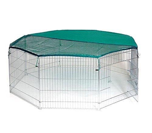 MEDIA WAVE store 26477 Recinto Ottagonale da Esterno per Animali Piccola Taglia con Parasole