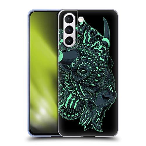 Head Case Designs Licenza Ufficiale Bioworkz Bisonte Natura Selvaggia Colorata 1 Cover in Morbido Gel Compatibile con Samsung Galaxy S21 5G