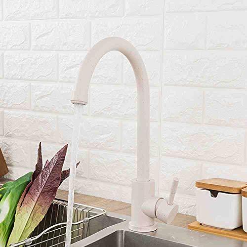 RSZHHL Wasserhahn Edelstahl Küchenarmatur Hot & Cold Water 360 drehen Haferflocken Mixer Wasserhahn für Küche Torneira Cozinha Y40107 / -1