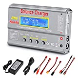 LiPo Battery Charger RC Discharger Digital Battery Pack Balance Charger with Connectors Power Supply for 1S-6S LiPo/Li-Fe/Li-ion 1S-15S NiMH/NiCD Batteries