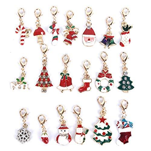 Xunsdzsw Llavero 19pcs Llavero Clave decoración navideña