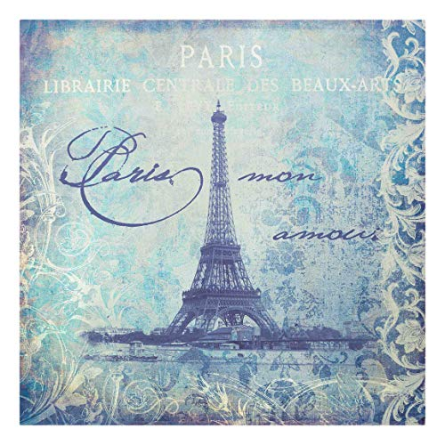 Bilderwelten Cuadro en Lienzo - Vintage Collage - Paris Mon Amour - 60 x 60cm - Canvas