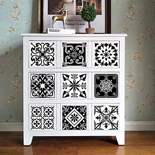 Azulejos Adhesivos Blanco Negro ModernoVinilosCocinaAzulejosAntisalpicadurasVinilosBañoAzulejosImpermeableVinilosdeparedDecorativosPinturaparaAzulejosAdhesivodePared 30x30cm