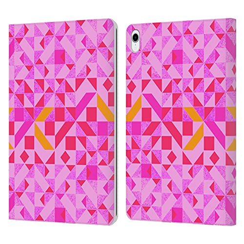 Head Case Designs Officially Licensed Vasare Nar Candy Geometric Pattern 3 Leather Book Wallet Case Cover Compatible With Apple iPad Pro 11 (2018)