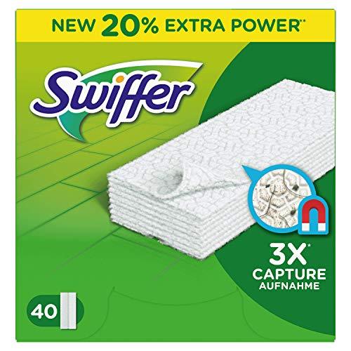 Swiffer Dry Panni Catturapolvere, 3 confezioni da 40 Pezzi [120 pezzi]