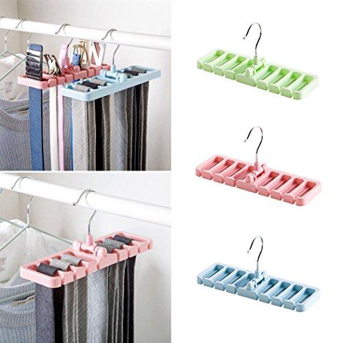 XWBO Tie Rack Belt Plastic Hangers Scarf Holder Hook Accessory Rack Space Saving Organizer- 8 Holds