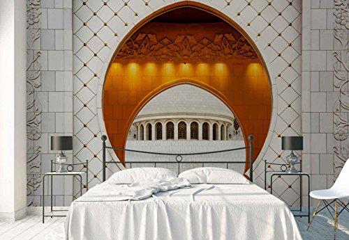 Papel Tapiz Fotomural - Templo Arco Entrada - Tema Arquitectura - MUESTRA - 104cm x 70.5cm (an. x alto) - 1 Tiras - impreso en papel 130g/m2 EasyInstall - 1X-1042708VEM