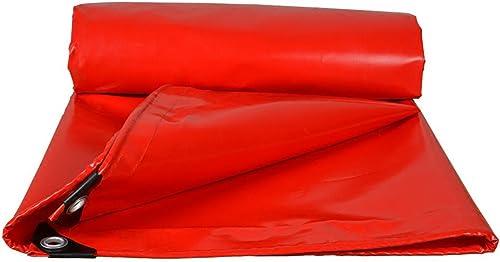 GLJ Tissu Imperméable à l'eau De Prougeection Solaire épaississement Voiture Bache Tissu Imperméable à l'eau Camion Toile De Toile étanche à La Pluie bache (Couleur   rouge, Taille   4x8m)