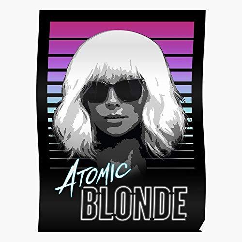 Generic Charlize Blonde Theron Retro Spy Spies 80S Futuristic Atomic Neon Home Decor Wandkunst drucken Poster !