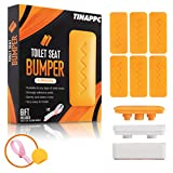Toilet Seat Bumper – 6pcs Toilet Bumpers with Height Adjusters and Toilet Lifter Handle – Self-Adhesive Strip – Top-Quality ABS with Waterproof Adhesive – Light Orange Color