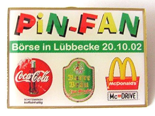 Fan Börse in Lübbecke 2002 - Mc Donald´s, Coca Cola & Barre Bräu - Pin 30 x 22 mm