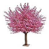 Árbol de simulación sobrenatural Artificial árbol de melocotón grande Simulación Árbol de la planta falso cereza árbol de los deseos árbol de melocotón Decoración Decoración del hogar al aire libre