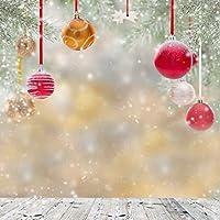 GladsBuy素敵なクリスマスボール10' x 10'コンピュータ印刷写真バックドロップクリスマステーマ背景st-034