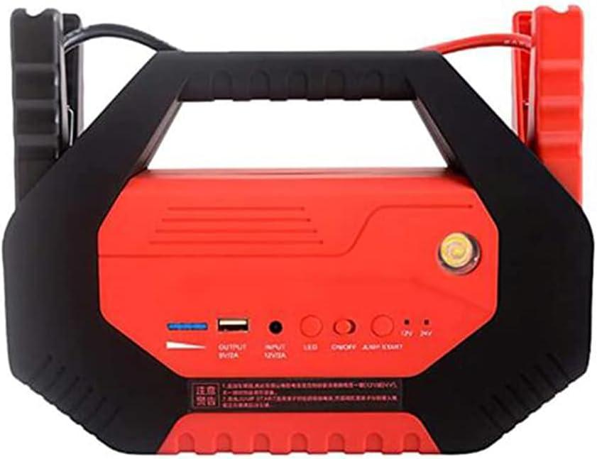 Z&HX Starter de Salto de automóvil, Cargador de Emergencia Banker Power Bank Pack Booster 12V 24V Dispositivo de Inicio multifunción