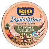 rio mare - insalatissime 5 cereali e tonno con grano saraceno e olive verdi, senza conservanti, certificato msc, 1 lattina da 220g con forchettina inclusa